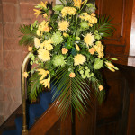 australian flower display by the church flower arrangers